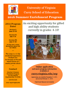 2016 Summer Enrichment Program