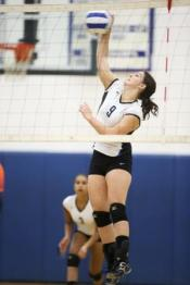September 08, 2015. MCHS Varsity Volleyball vs Orange. Madison wins 3-0.