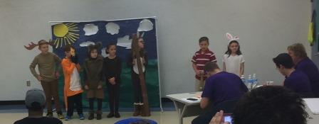Destination Imagination Students Presenting for Judges