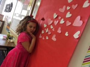 Student Against Valentine's Day Wall