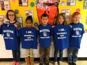 Primary Students with MPS Tee Shirts