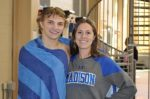 State Dive Champion Ben Dillon with Coach Charlotte Edwards