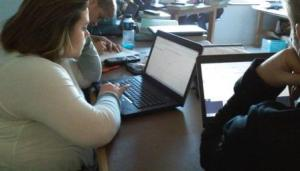 Teacher Mary Davis's Students in Dual Enrollment Pre-Calculus Using Desmos